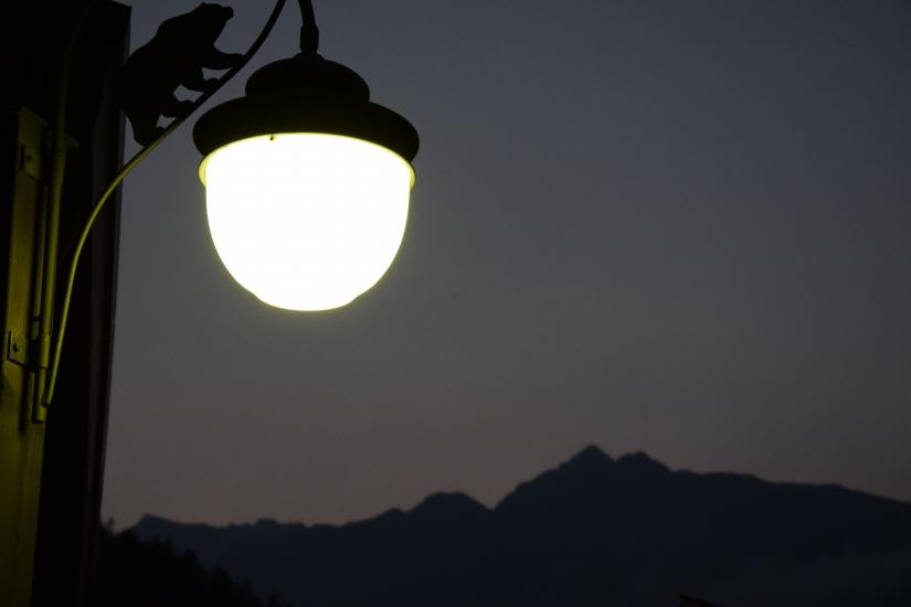 La luce che illumina la vetta