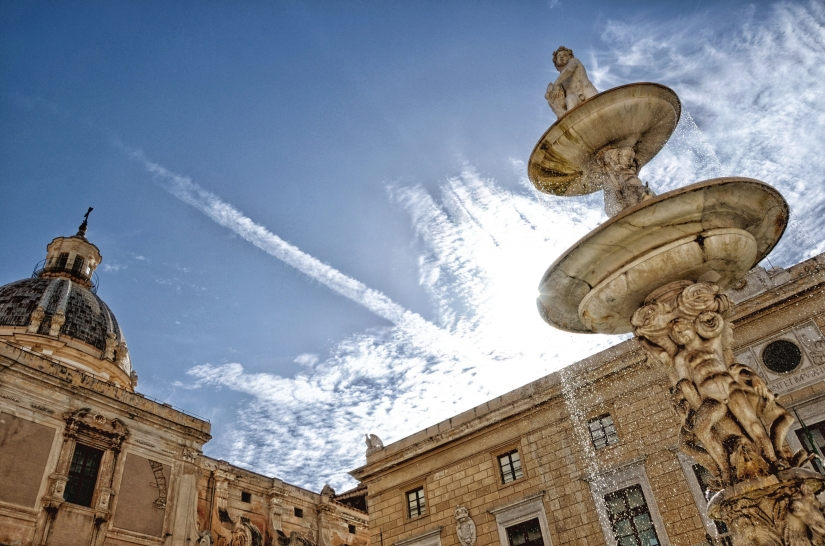 fontana di piazza Pretoria Palermo