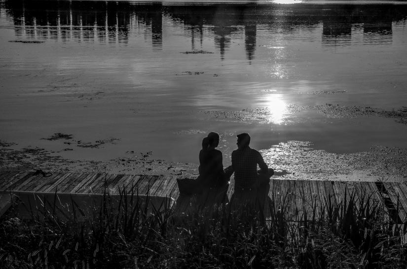 Al tramonto (profili e silhouette=