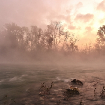 alba sul fiume Oglio