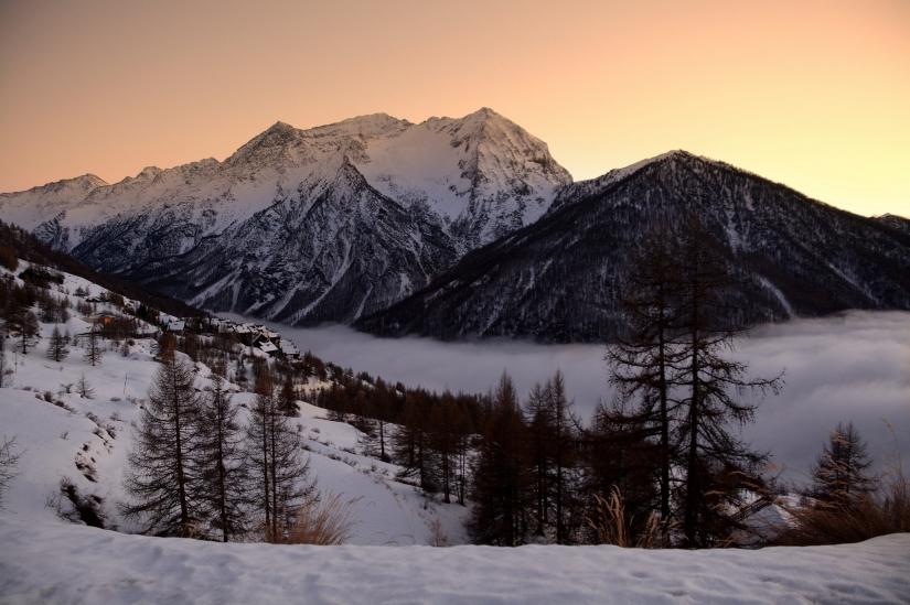 Alpi al tramonto