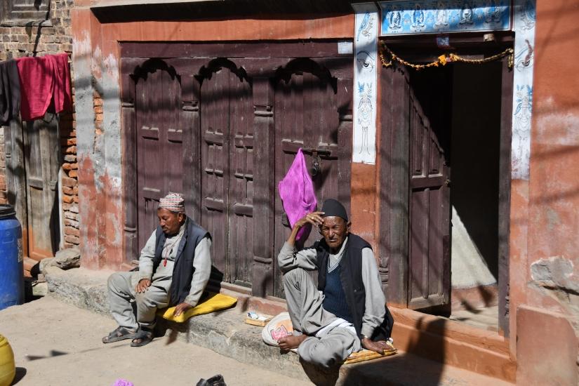 Anziani in Nepal
