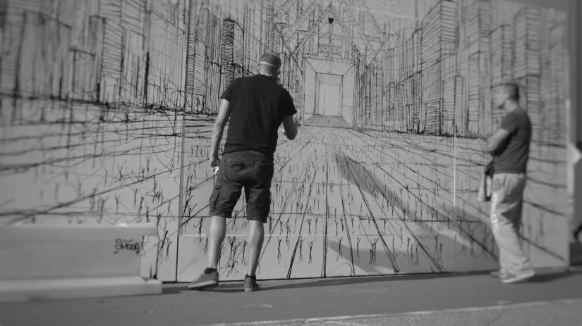 Artist in work