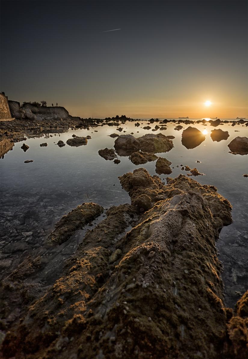 Bassa marea in Livorno