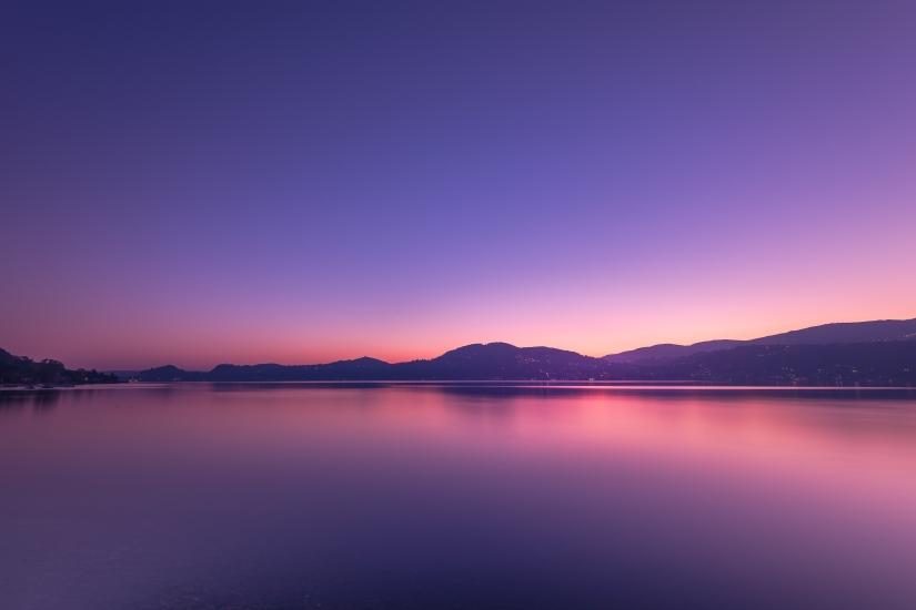 Blue hour al lago