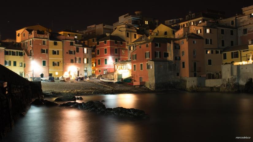 Boccadasse (GE) by night