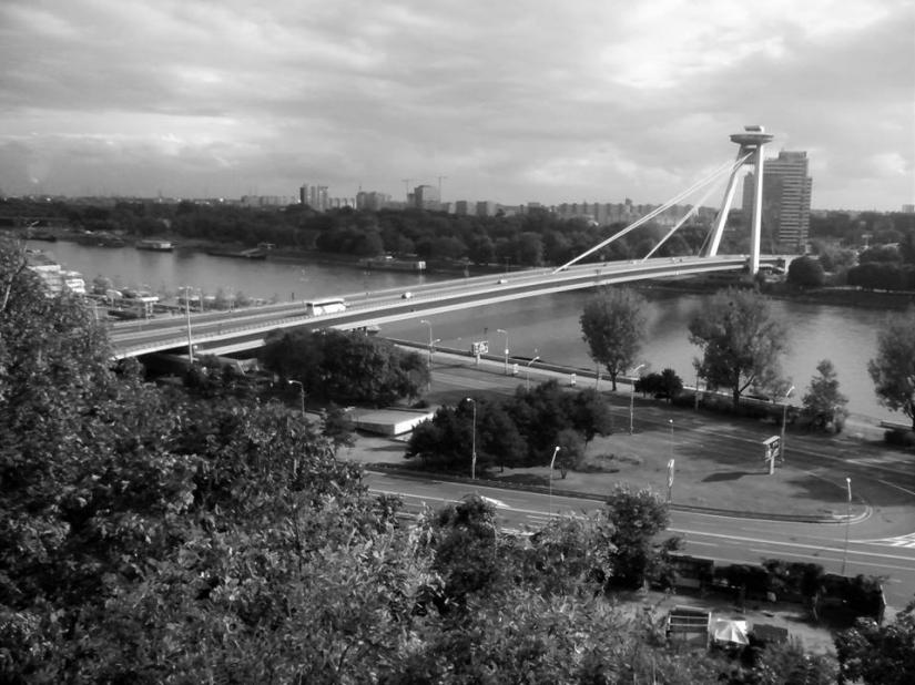 Bratislava - Vista sulla città dal castello (in B&W)