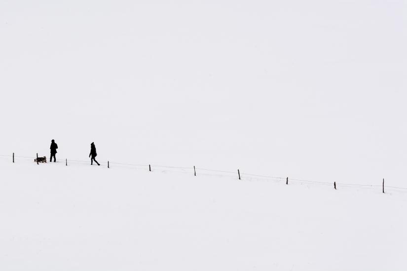Camminando immersi nella neve