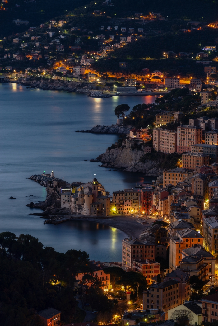 Camogli blue hour