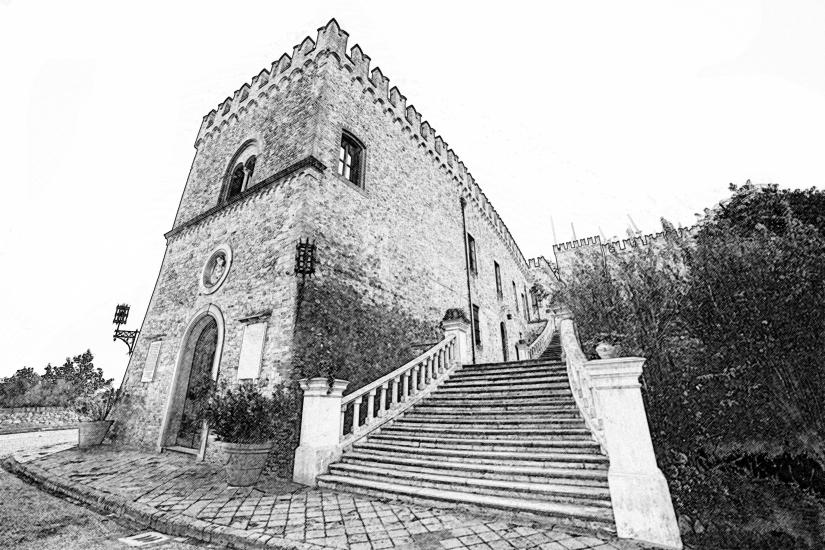 Castello di Tabiano a matita