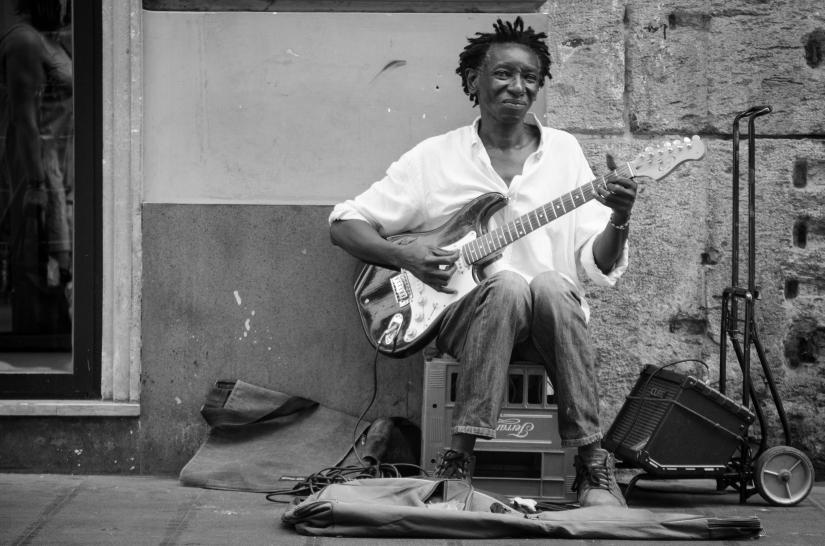 Chitarrista di strada