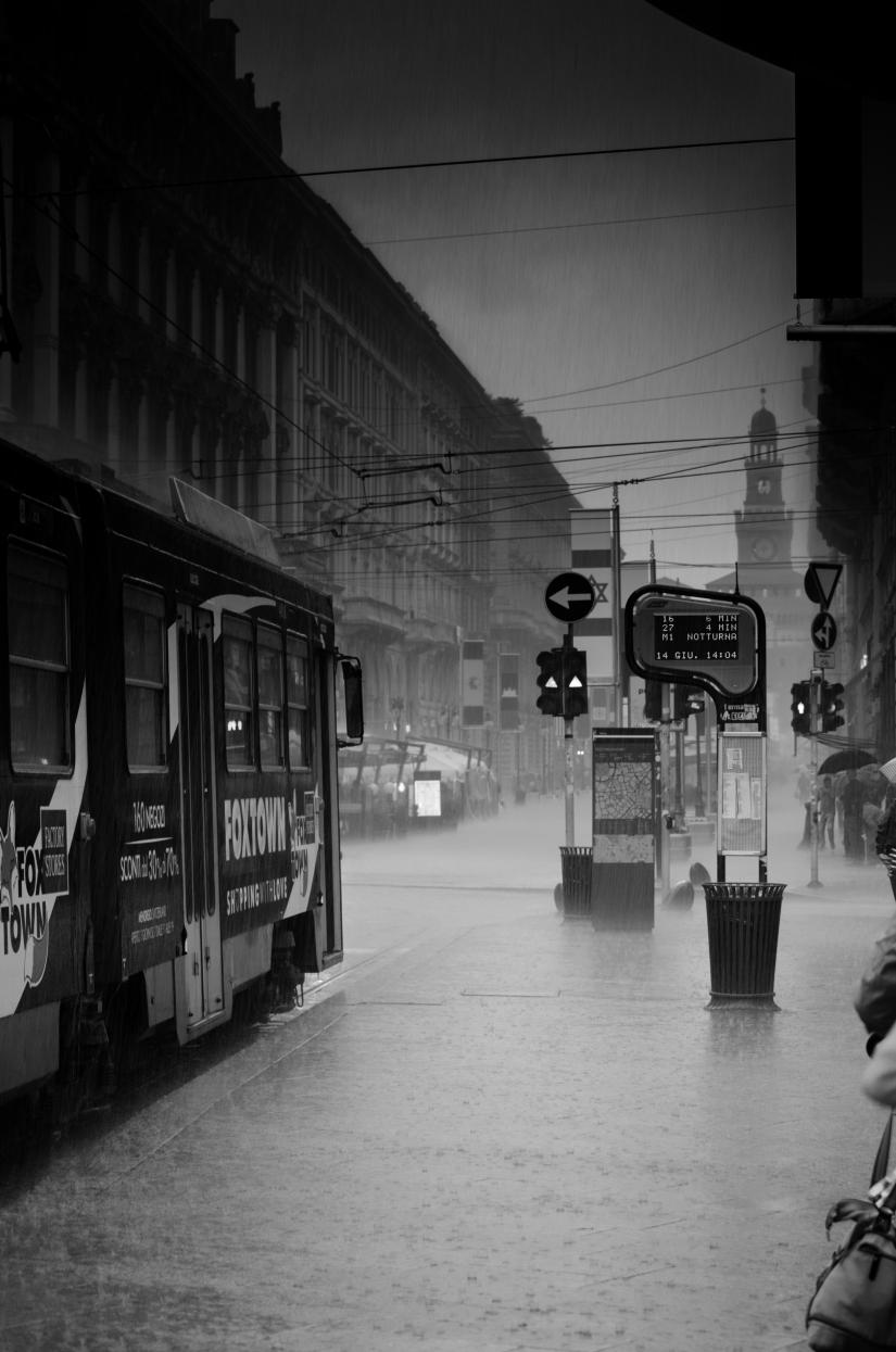 City Life, sotto la pioggia