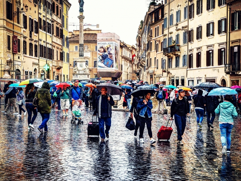 Colori sotto la pioggia
