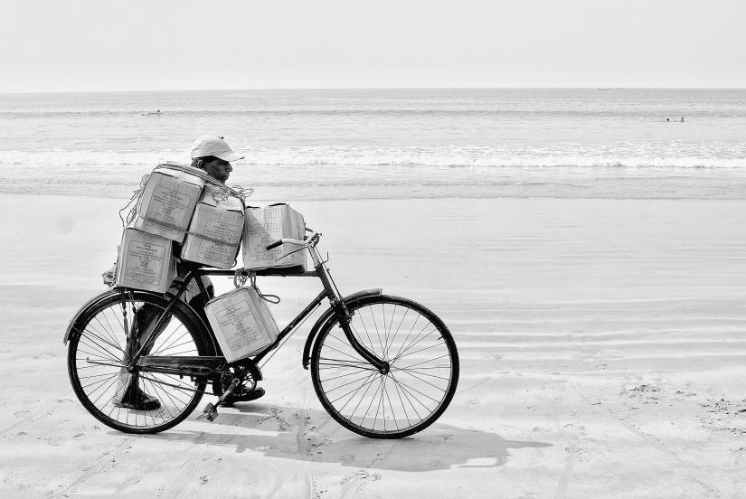 Con la bici al mare.