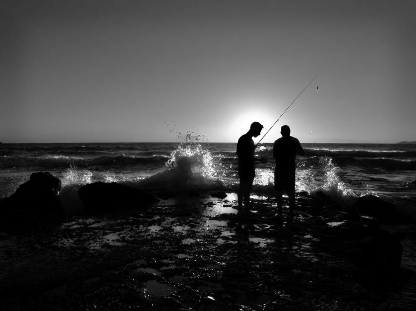 Controluce, i pescatori