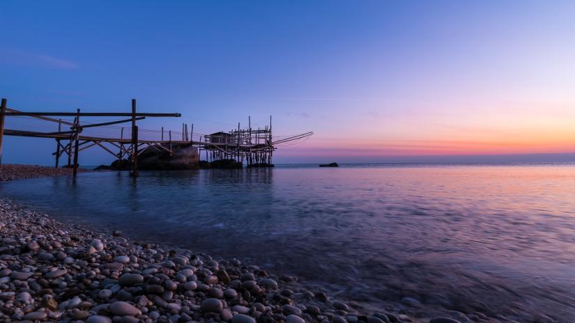 Costa dei Trabucci - pochi istanti prima dell'alba