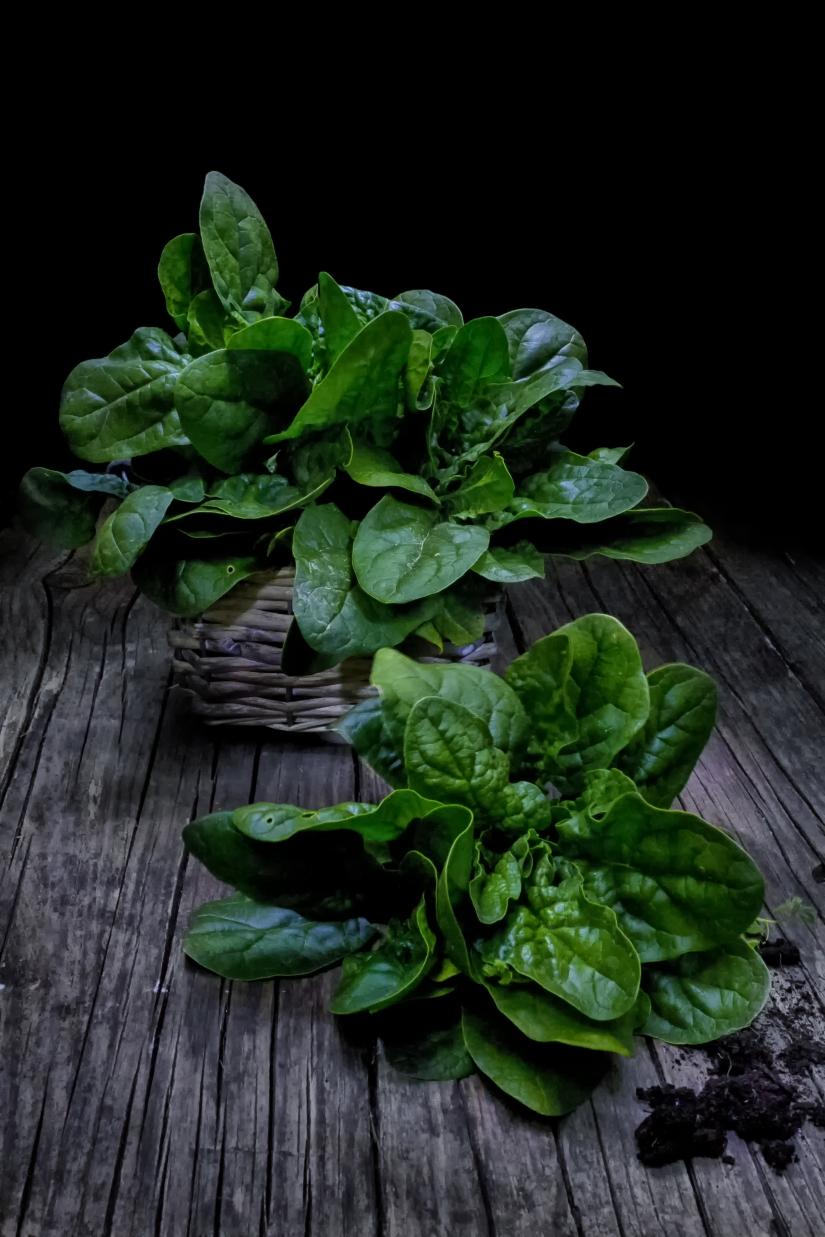 Croccanti foglie dall'orto