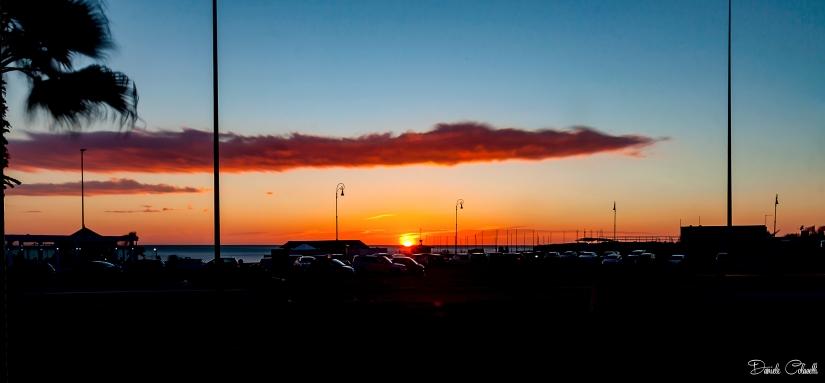 Curvone di Ostia al tramonto
