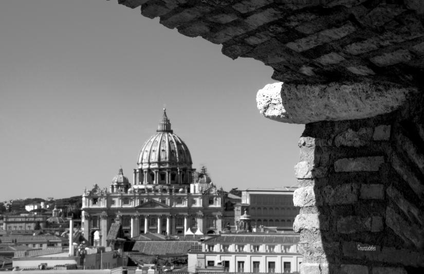 Dalla terrazza di Castel Sant'Angelo..