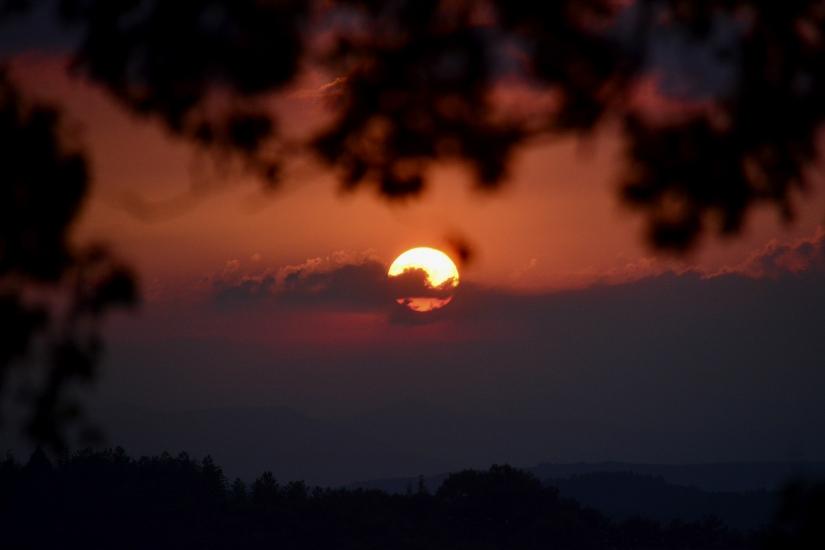 Di sera, al tramonto.