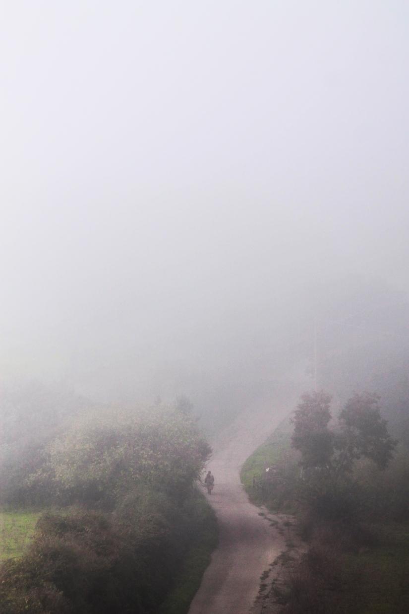 Donna nella nebbia