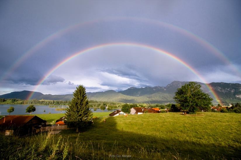 Doppio arcobaleno elettrizzante !!!