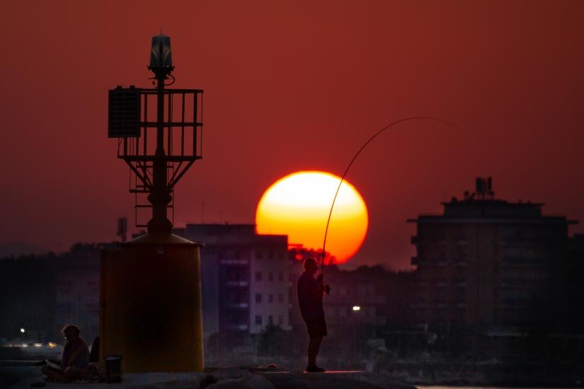 Durante il tramonto......