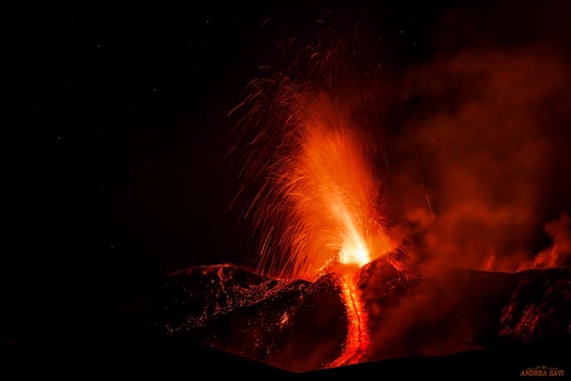 Etna in eruzione...