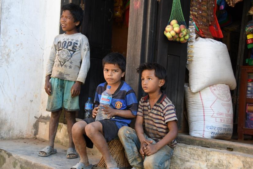 Fanciulli Nepalesi