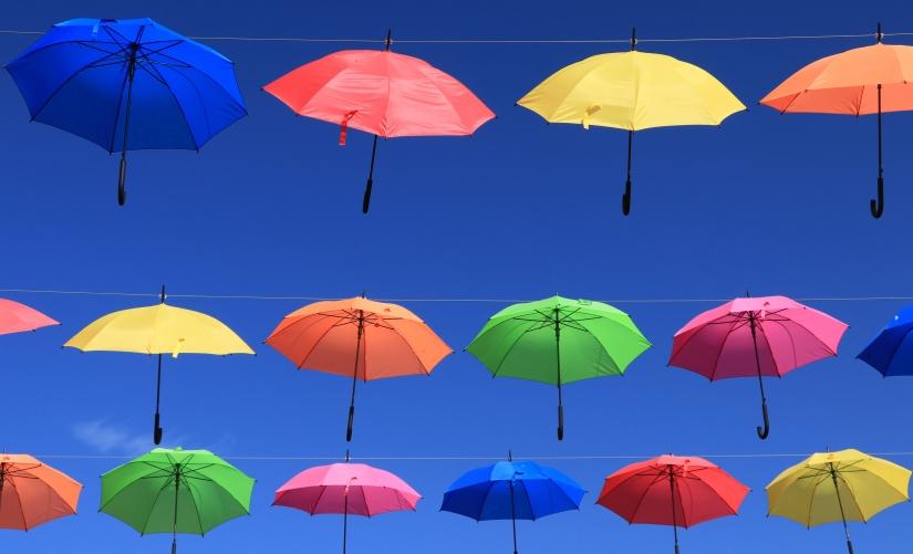 Flying umbrellas 2