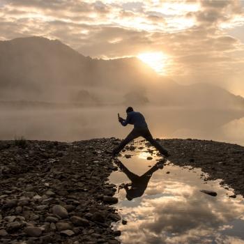 fotografando l'alba