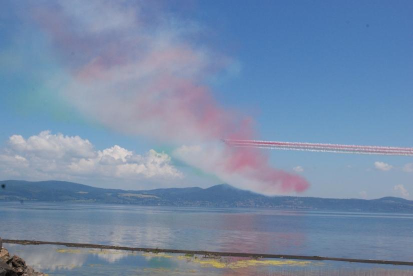 Frecce Tricolore sul Lago di Bracciano