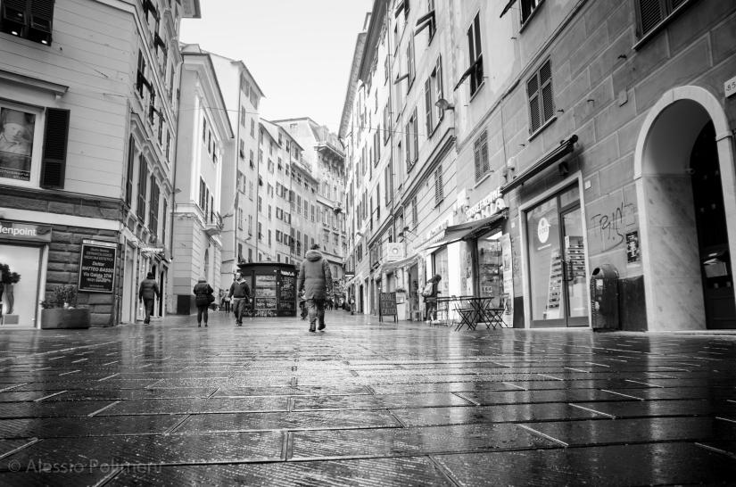 Genova sotto la pioggia