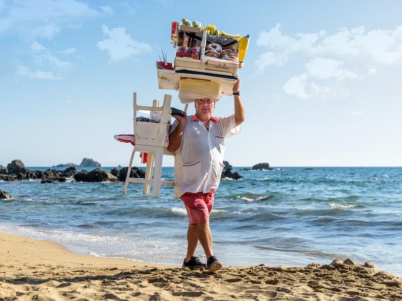 GEORGE SERVICE ON THE BEACH