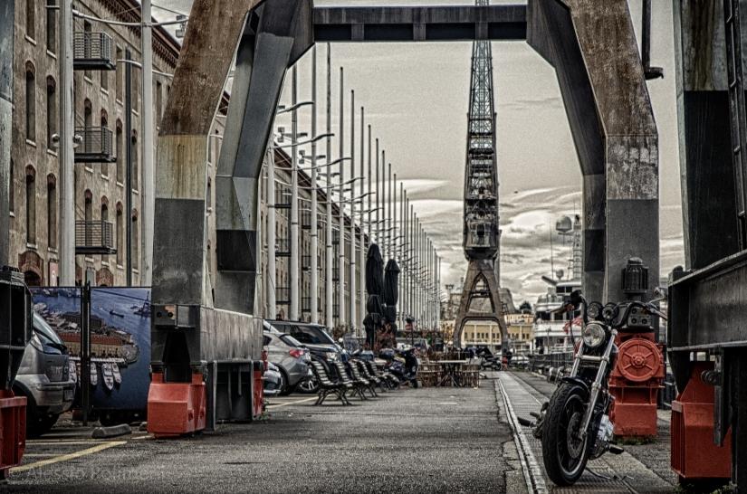 Harley al porto antico, sembra NY