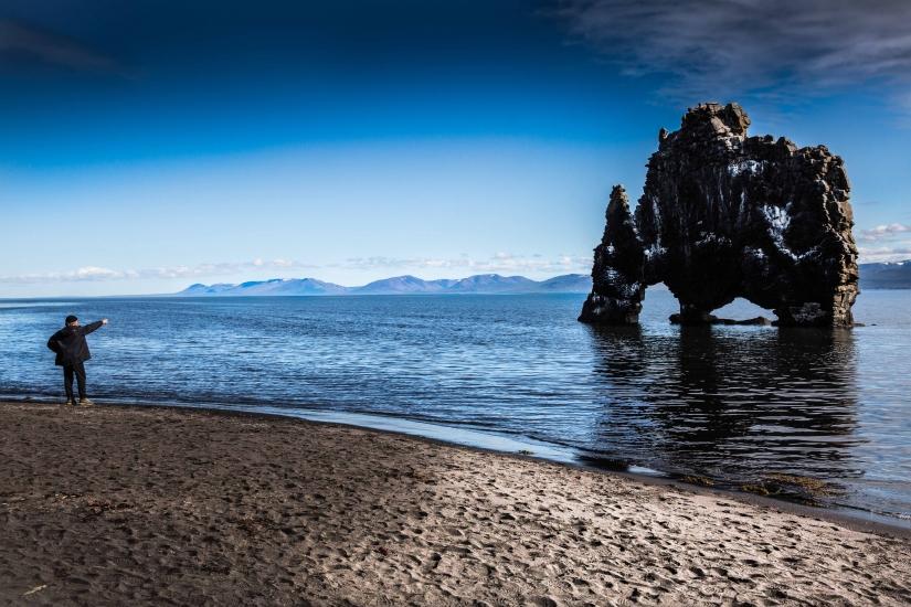 Hvitserkur, Islanda