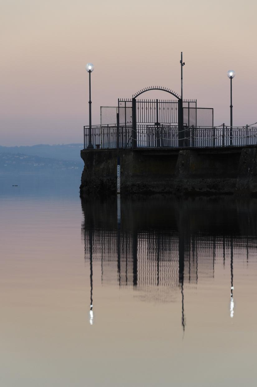 I colori al tramonto sul lago di Bracciano(RM)
