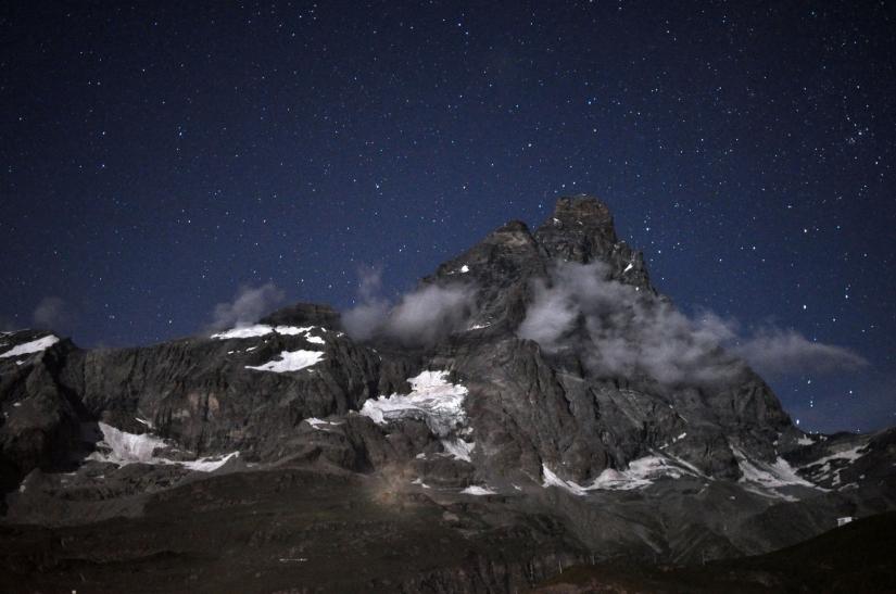 Il Cervino sotto le stelle