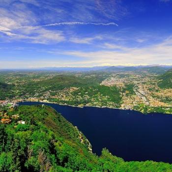Il lago di Como visto da Brunate