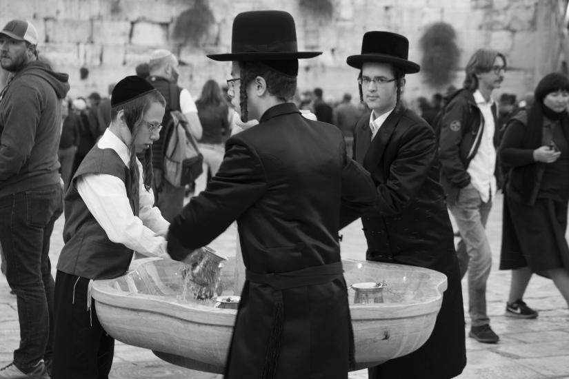 Il lavaggio delle mani, Gerusalemme 2018