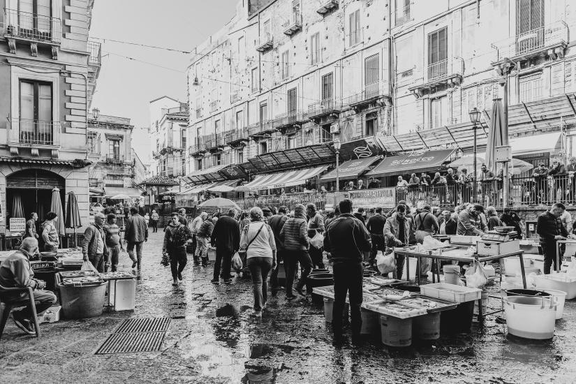 Il mercato del pesce di Catania
