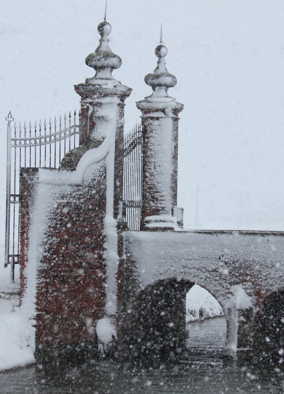 Il ponte in nevato!