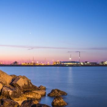Il porto, tramonto e alba