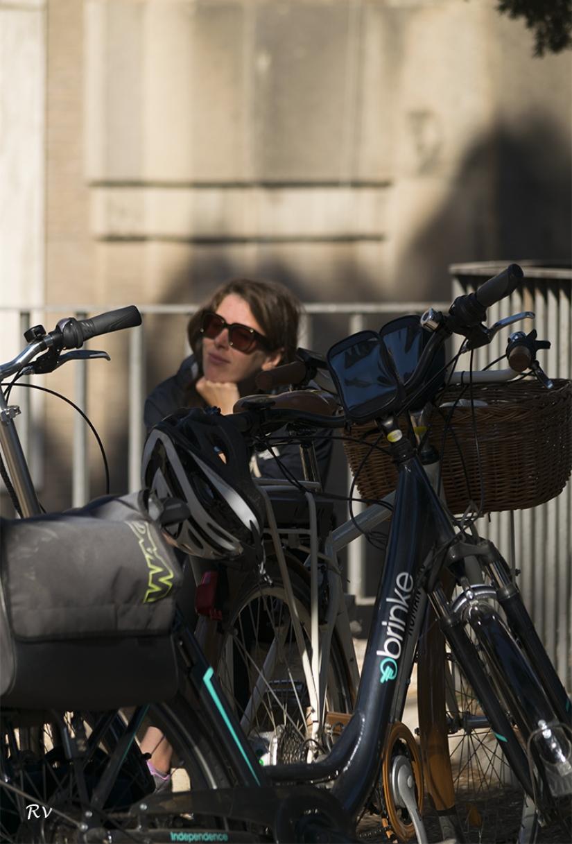 Il riposo della ciclista