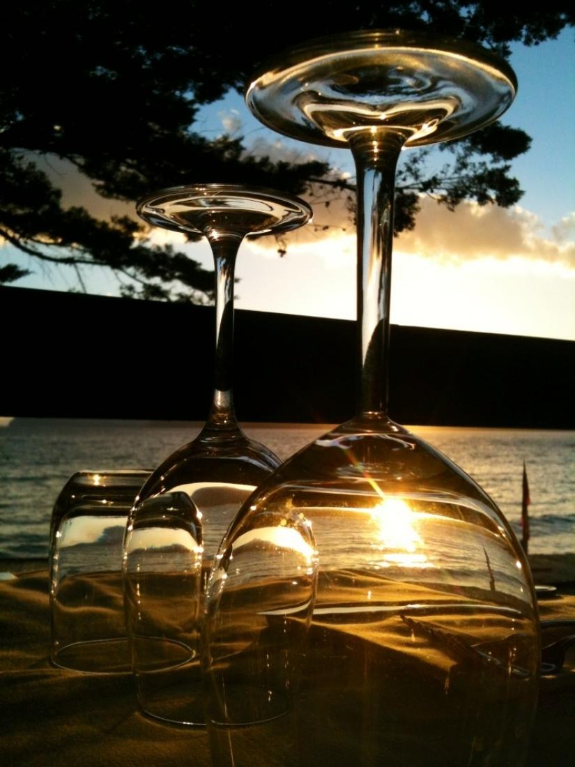 Il tramonto in un bicchiere