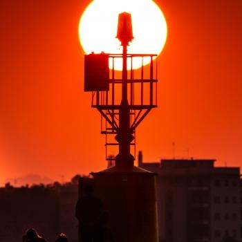 Il tramonto sul faro