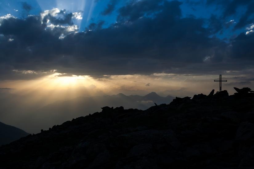 In attesa del tramonto sulla Testa Nera (2819 mt)