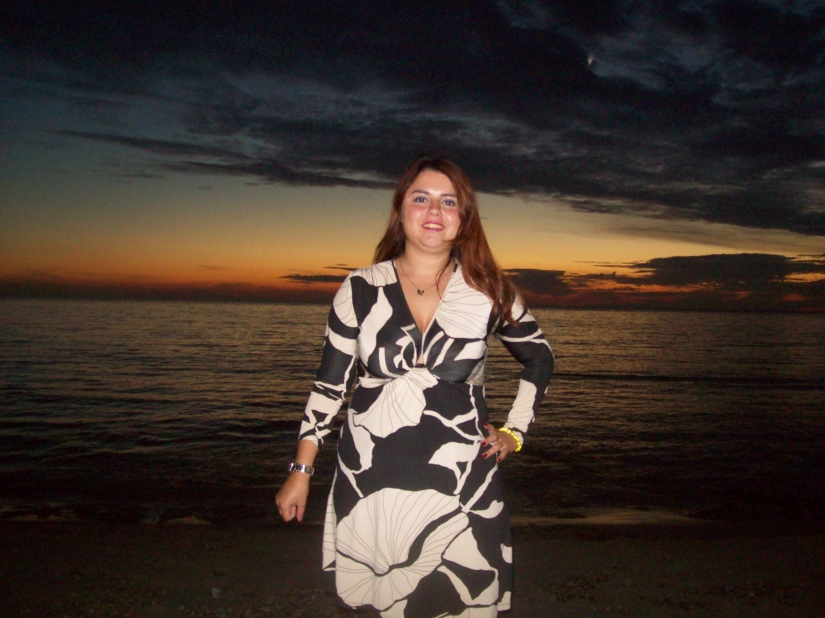 Io al tramonto