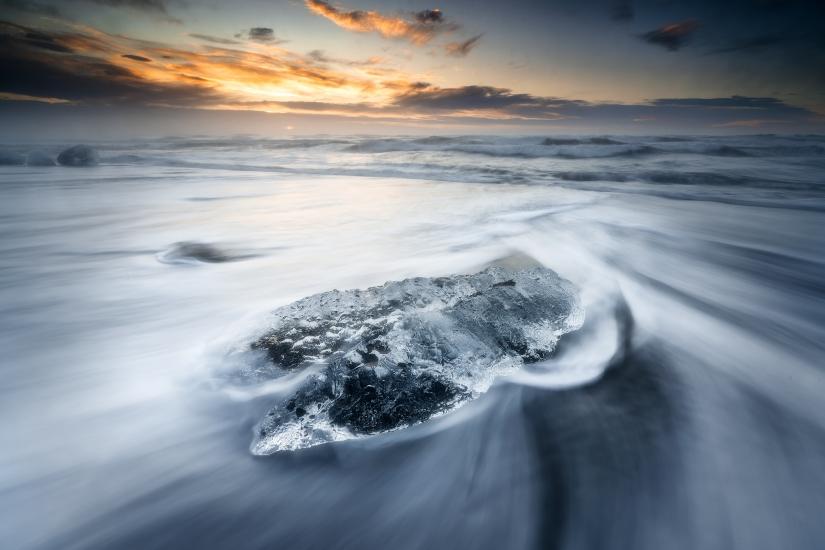 Jokulsarion, la spiaggia dove muore il ghiaccio