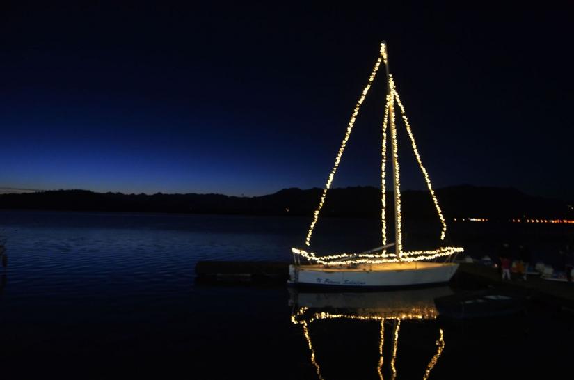La barca illuminata